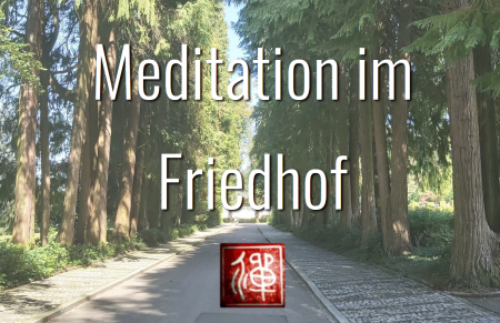 Zen-Meditation im Friedhof